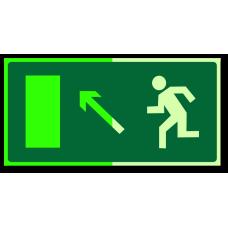 """Знак """"Направление к эвакуационному выходу налево вверх фотолюм."""""""