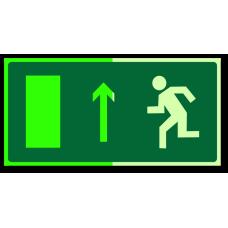 """Знак """"Направление к эвакуационному выходу прямо (левосторонний) фотолюм."""""""