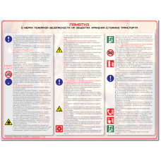 """Плакат """"Памятка о мерах пожарной безопасности на объектах хранения (стоянки) транспорта"""""""