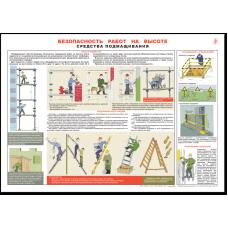 """Плакат """"Безопасность работ на высоте"""""""