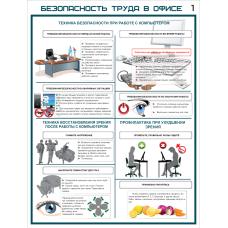 """Плакат """"Безопасность труда в офисе"""""""