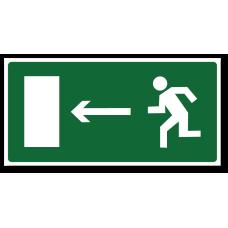 """Знак """"Направление к эвакуационному выходу налево"""""""