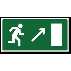 """Знак """"Направление к эвакуационному выходу направо вверх"""""""