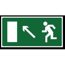 """Знак """"Направление к эвакуационному выходу налево вверх"""""""