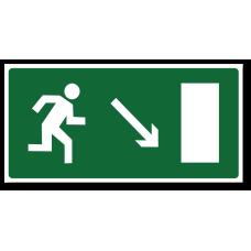 """Знак """"Направление к эвакуационному выходу направо вниз"""""""