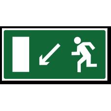 """Знак """"Направление к эвакуационному выходу налево вниз"""""""