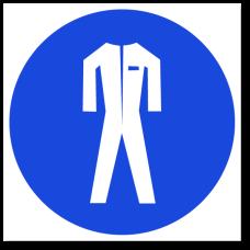 """Знак """"Работать в защитной одежде"""""""