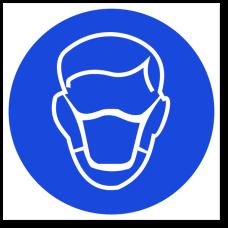 """Знак """"Используйте защитную медицинская маску"""""""