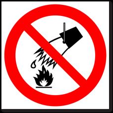 """Знак """"Запрещается тушить водой"""""""