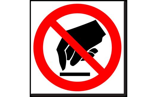 """Знак """"Запрещается прикасаться. Опасно"""""""