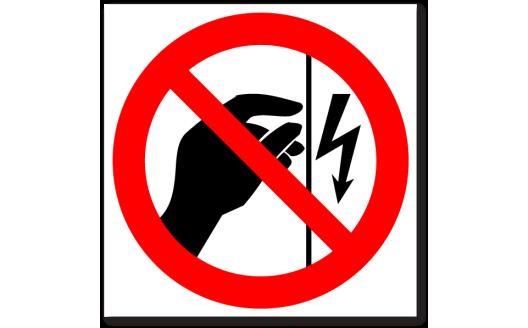 """Знак """"Запрещается прикасаться. Корпус под напряжением"""""""