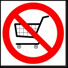 """Знак """"Вход с торговыми тележками запрещен"""""""