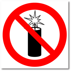 """Знак """"Запрещается использовать фейерверки"""""""