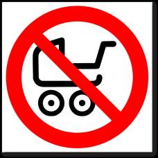 """Знак """"Вход с колясками запрещен"""""""