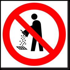 """Знак """"Запрещается сливать в канализационные стоки"""""""