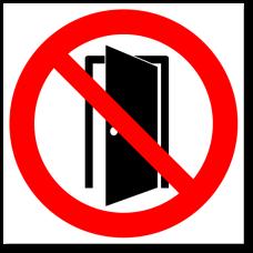 """Знак """"Запрещается держать двери открытыми"""""""