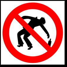 """Знак """"Вход в пьяном состоянии запрещен"""""""