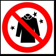 """Знак """"Запрещается использовать электростатическую одежду"""""""