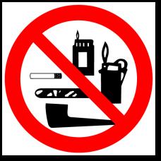 """Знак """"Проносить с собой табачные изделия, зажигалки и спички запрещено"""""""