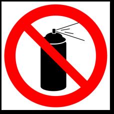 """Знак """"Запрещается использовать аэрозоли"""""""
