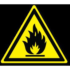 """Знак """"Пожароопасно. Легковоспламеняющиеся вещества"""""""