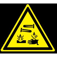 """Знак """"Опасно. Едкие и коррозионные вещества"""""""